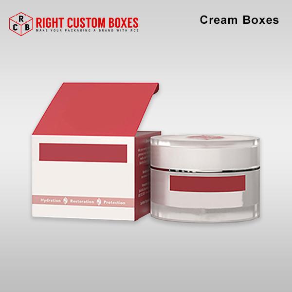 custom cream boxes packaging