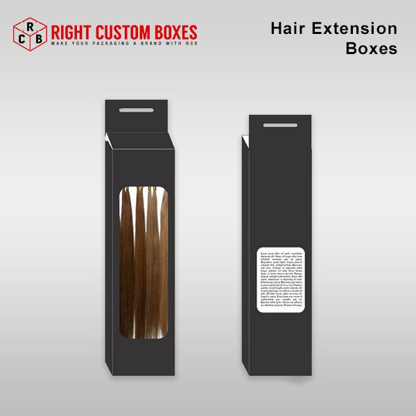 custom printed hair packaging
